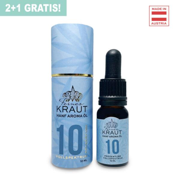 2+1 GRATIS - 10% CBD Öl Vollspektrum