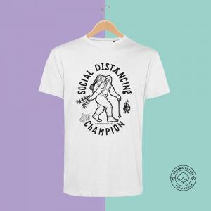 Feines Kraut e.U. | Feines Stoffe | T-Shirt 100% Bio-Baumwolle | Veganes Shirt | Social Distancing