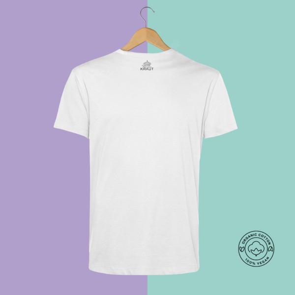 Feines Kraut e.U. | Feines Stoffe | T-Shirt 100% Bio-Baumwolle | Veganes Shirt | Rückseite